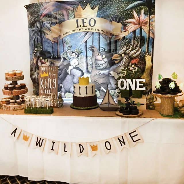 Where The Wild Things Are Party Backdrop