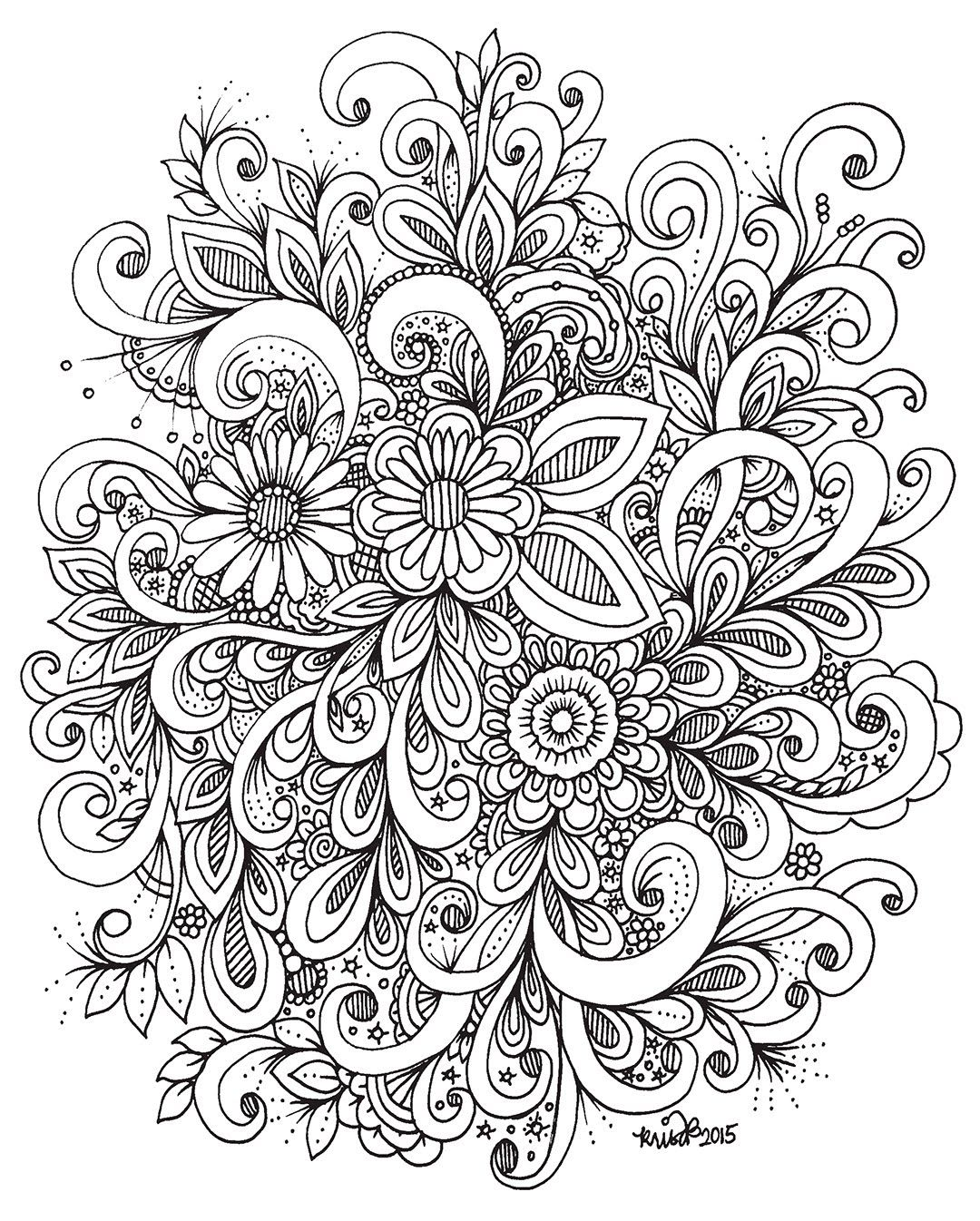 Maxresdefault Jpg 1080 1346 Flower Drawing 3 Canvas Art Doodle Drawings
