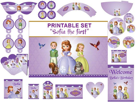 INSTANT DOWNLOAD Sophia the first party kit , Sofia the first ...