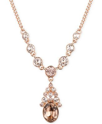 Givenchy Rose Gold-Plated Silk Y Necklace