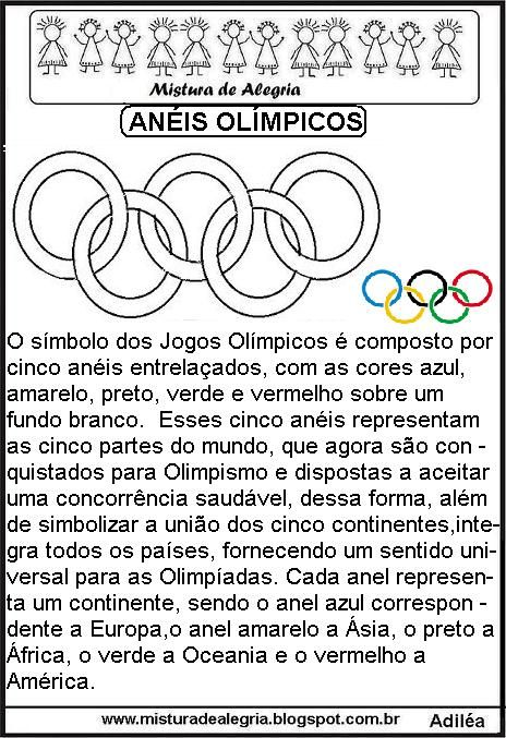 Aneis Olimpicos Texto Explicativo Para Imprimir Colorir Jpg 464