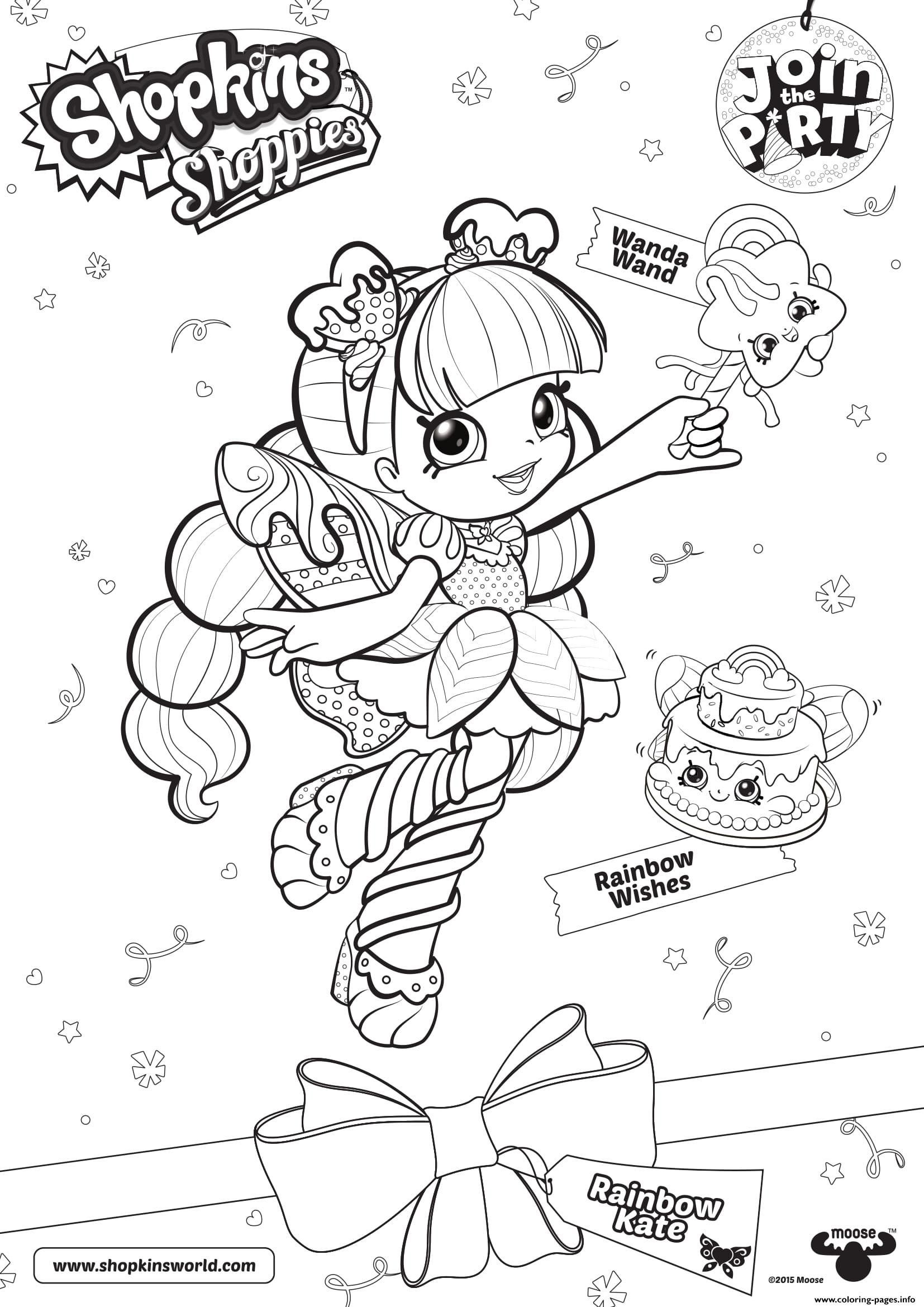 Print Shopkins Shoppies Join The Party Wanda Wand Rainbow Wishes Colorin Shopkin Coloring Pages Shopkins Coloring Pages Free Printable Shopkins Colouring Pages