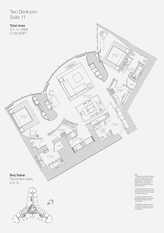 Armani hotel floor plans burj khalifa dubai plans for Dubai house floor plans