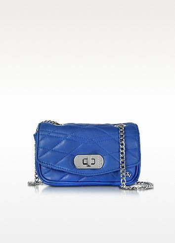 ZADIG & VOLTAIRE Cobalt Blue Quilted Leather Skinny Love Clutch ... : quilted leather clutch - Adamdwight.com