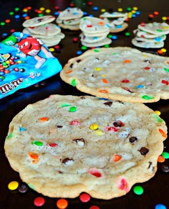Soft and Chewy M&M Sugar Cookies | foodsweet | foodsweet