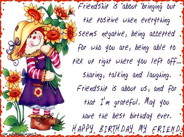 Happy Birthday Wishes Best Friend – Birthday Greeting Card Messages