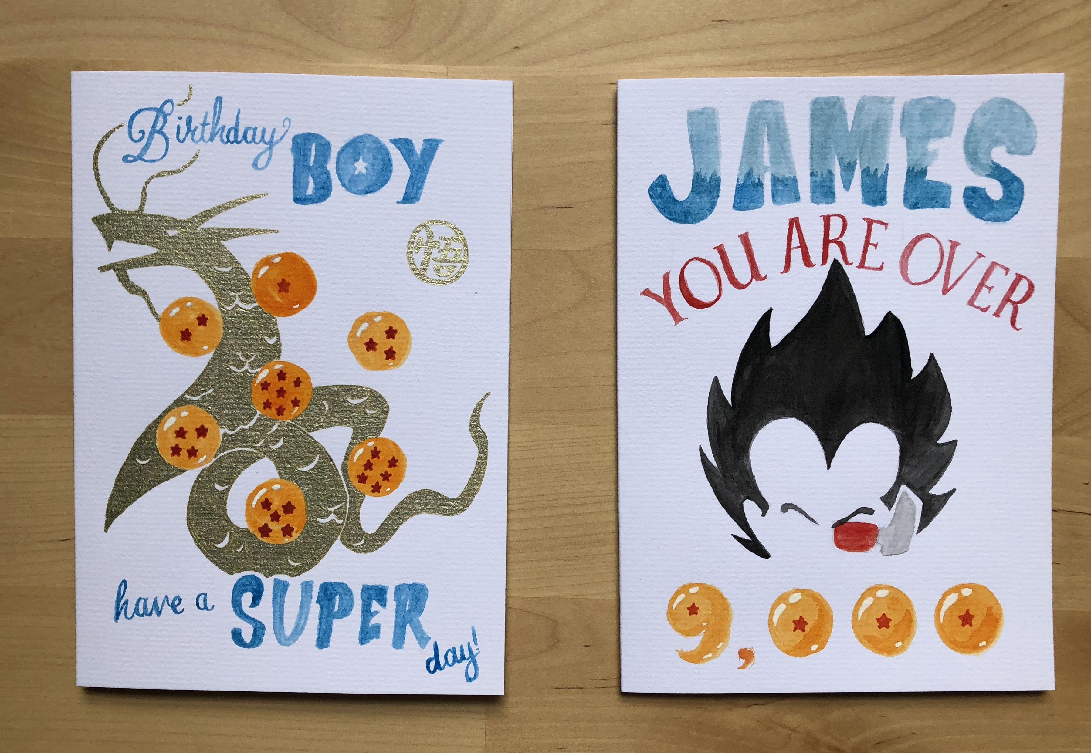 Dragon Ball Birthday Cards Over9000 Dragonball
