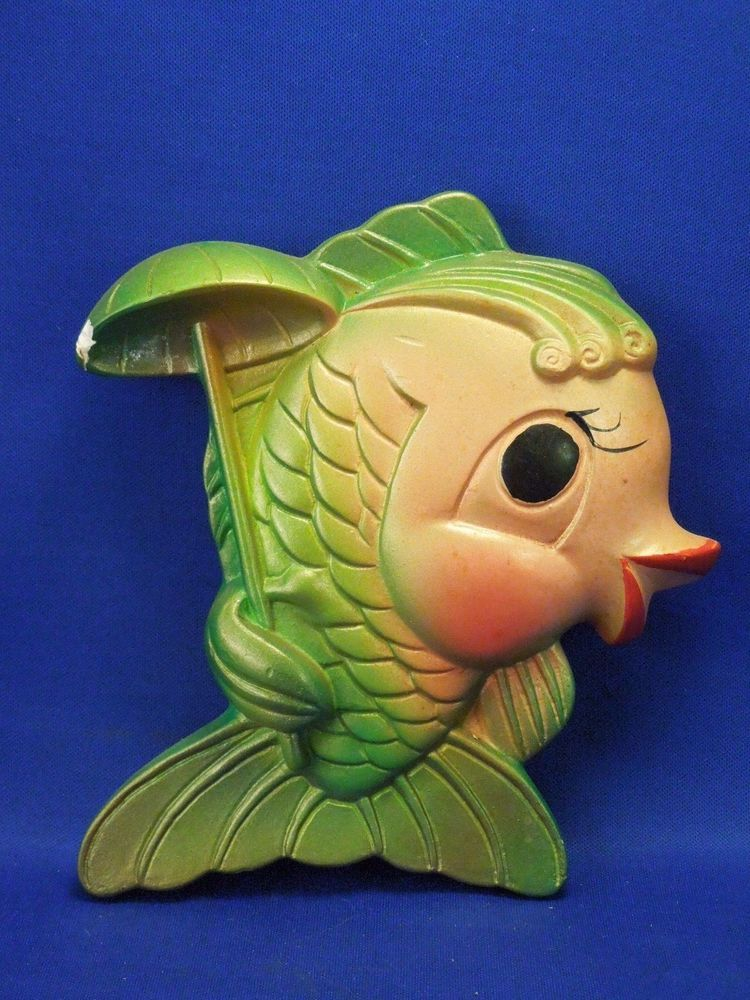 Vintage 1969 Chalkware Fish Wall Art Kitsch Miller Studio Inc Fish ...
