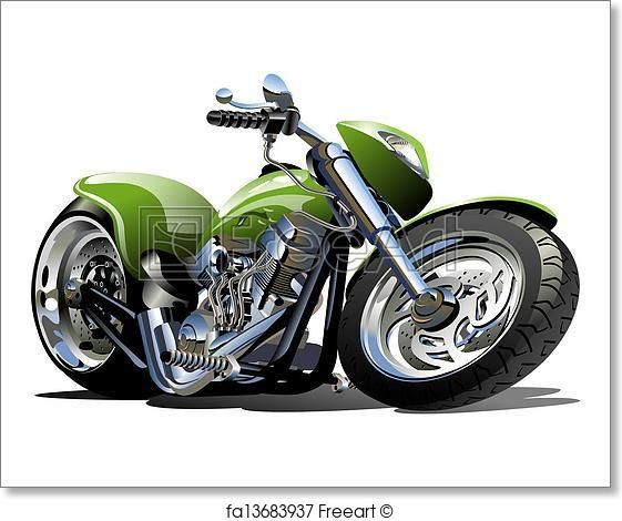 Free Art Print Of Cartoon Motorcycle Cool Car Drawings