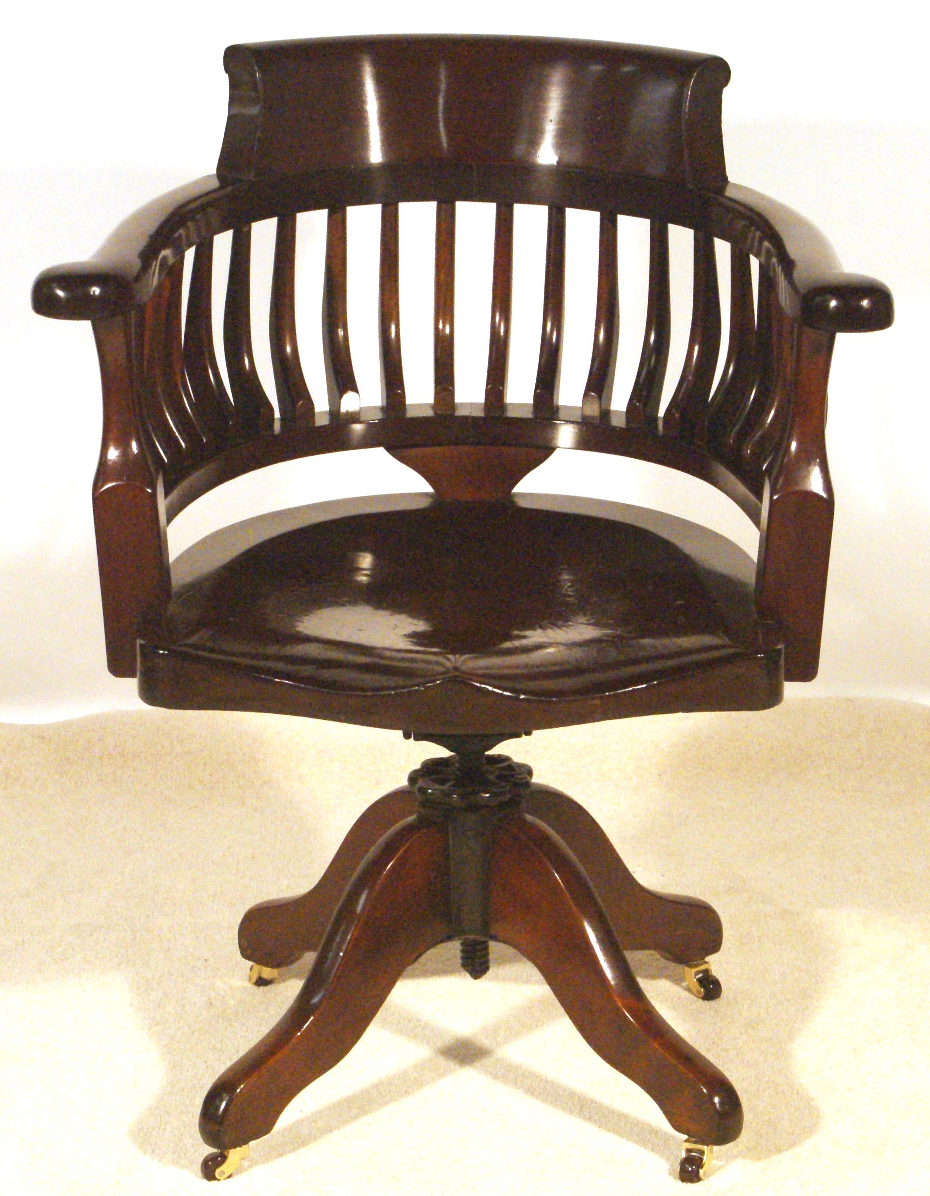 Victorian Swivel And Tilt Desk Chair Sold By Www Antiquedesks Net Classic Office Furniture Chair Antique Desk Chair