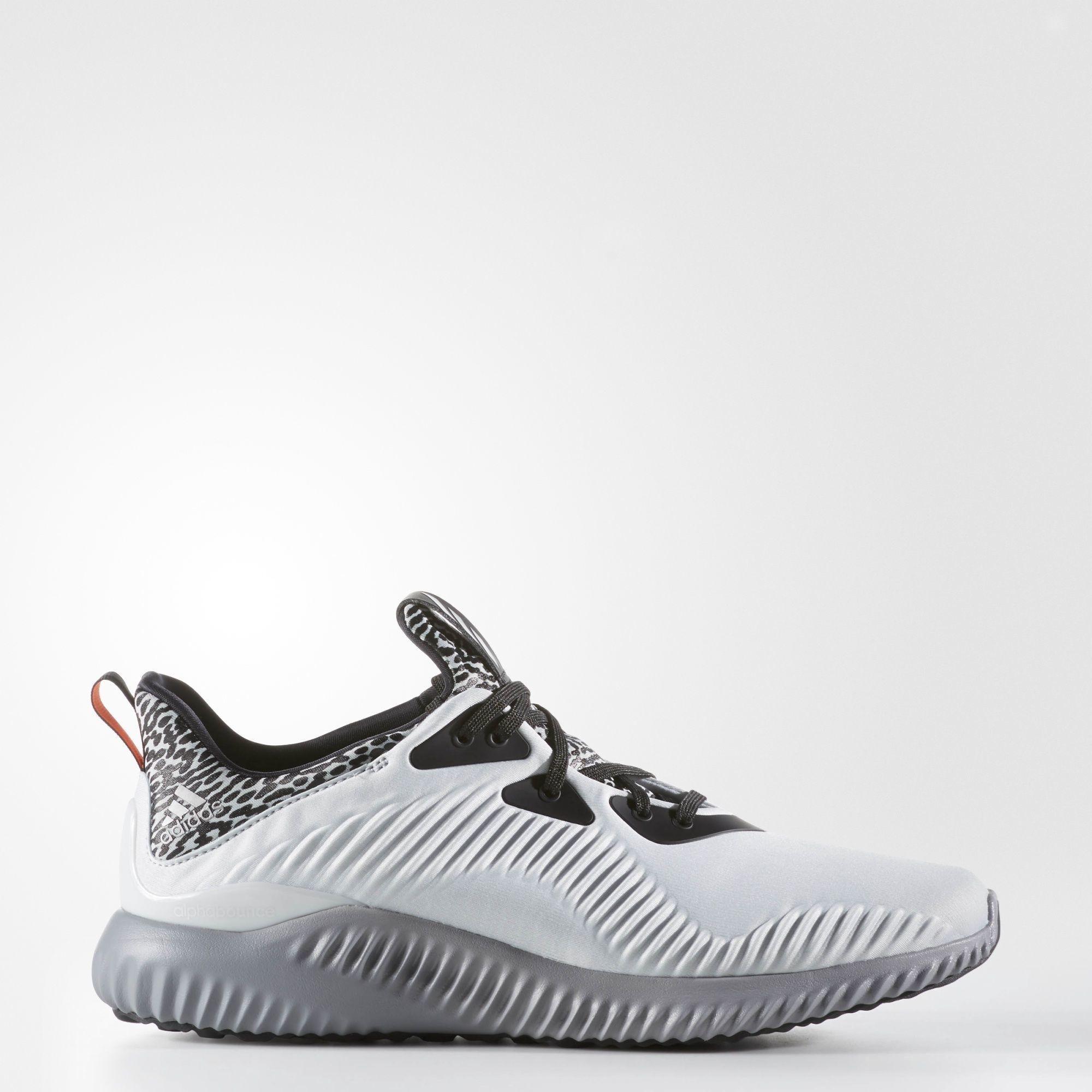 Giày thể thao nam adidas ALPHABOUNCE M FOOTWEAR AQ8214 (Trắng xám)