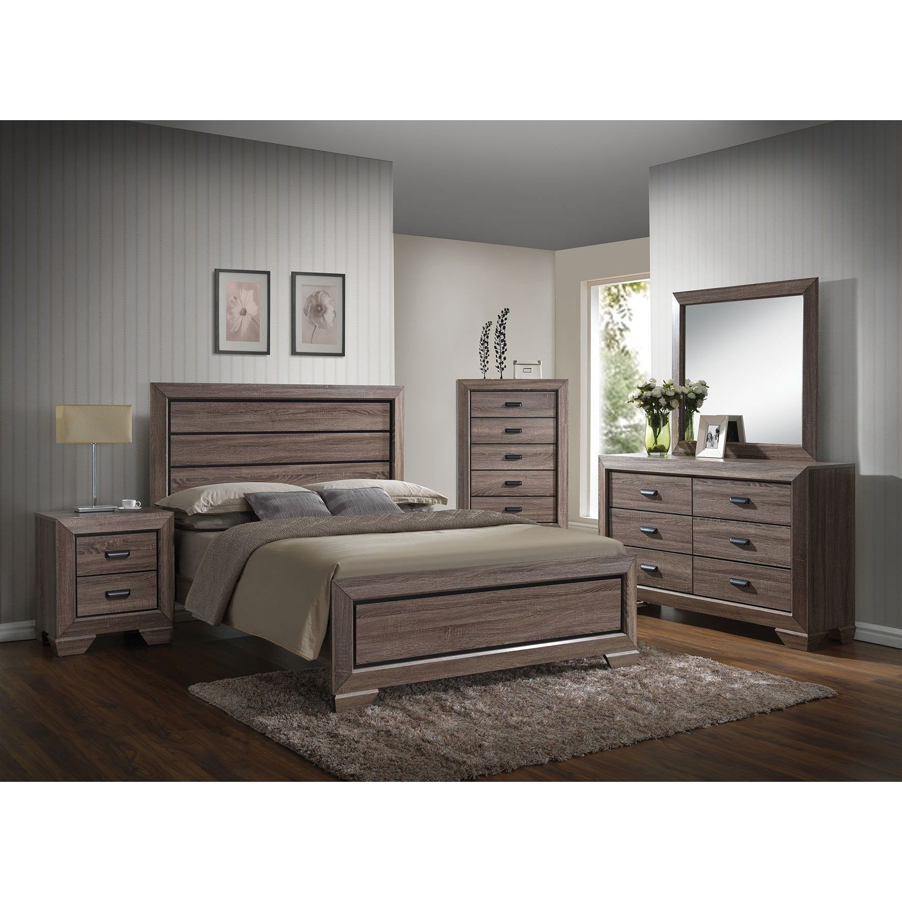 Best The Gray Barn Pickford Weathered Grey 4 Piece Bedroom Set 640 x 480