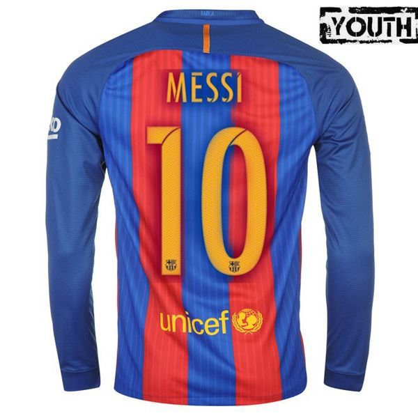 8c752157ef2 Lionel Messi Youth Home LS Soccer Jersey 16 17 Barcelona  10 ...