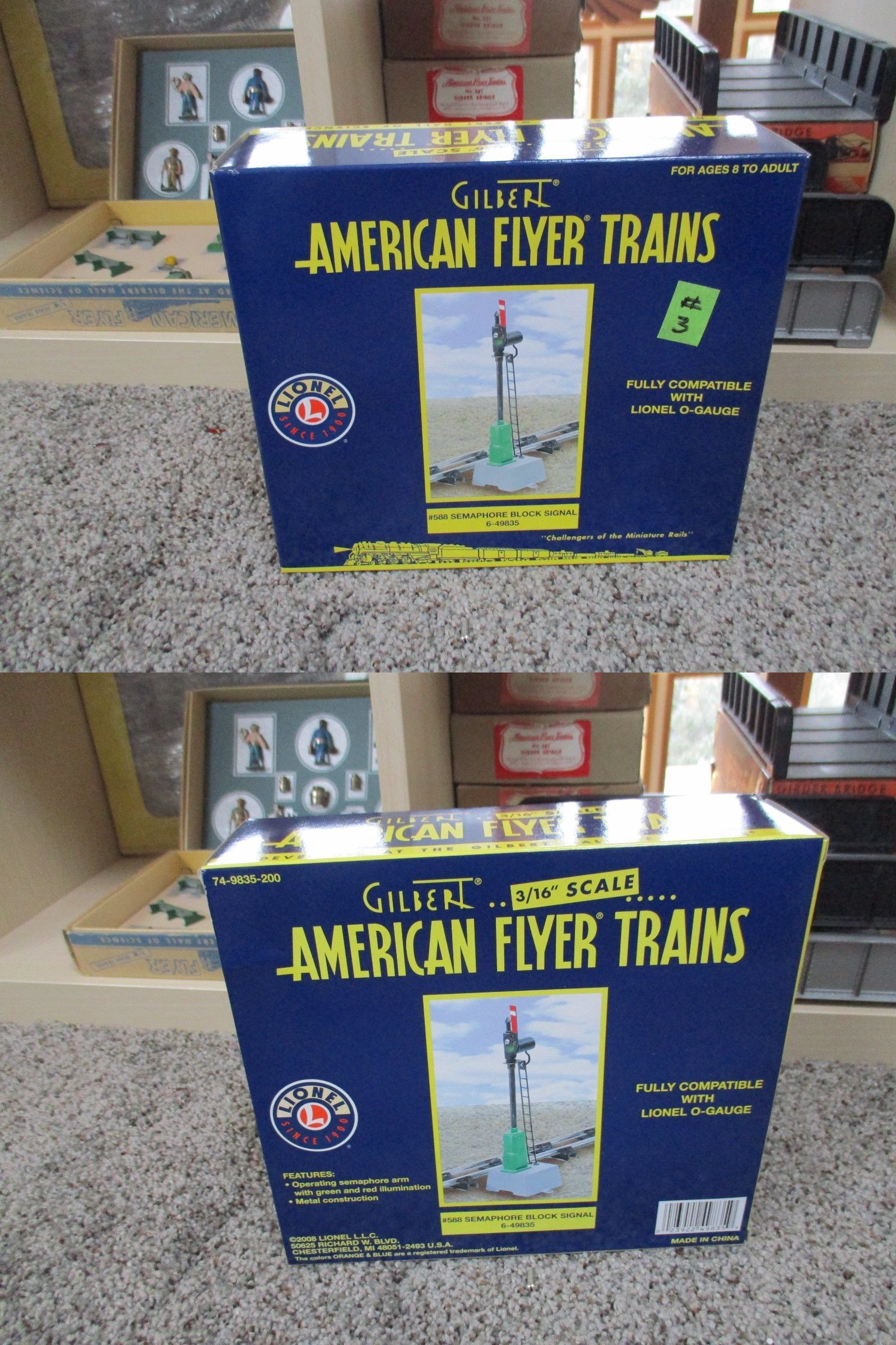 Other S Scale 16509 Lionel American Flyer 6 49835 Semaphore Signal Wiring Block New In Box