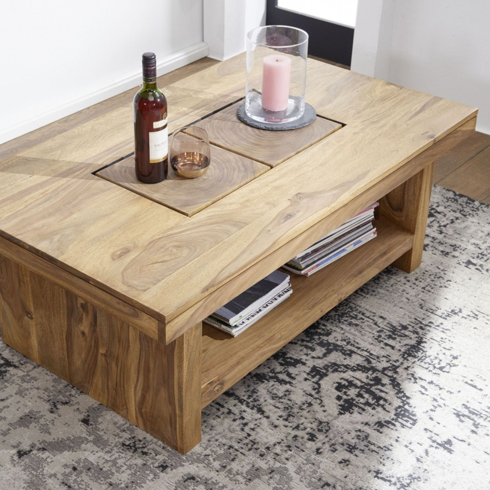 Couchtisch Sheesham 118x70 Cm Aus Massivholz Massivholzmobel Couchtisch Wohnzimmertisch Holz Tisch