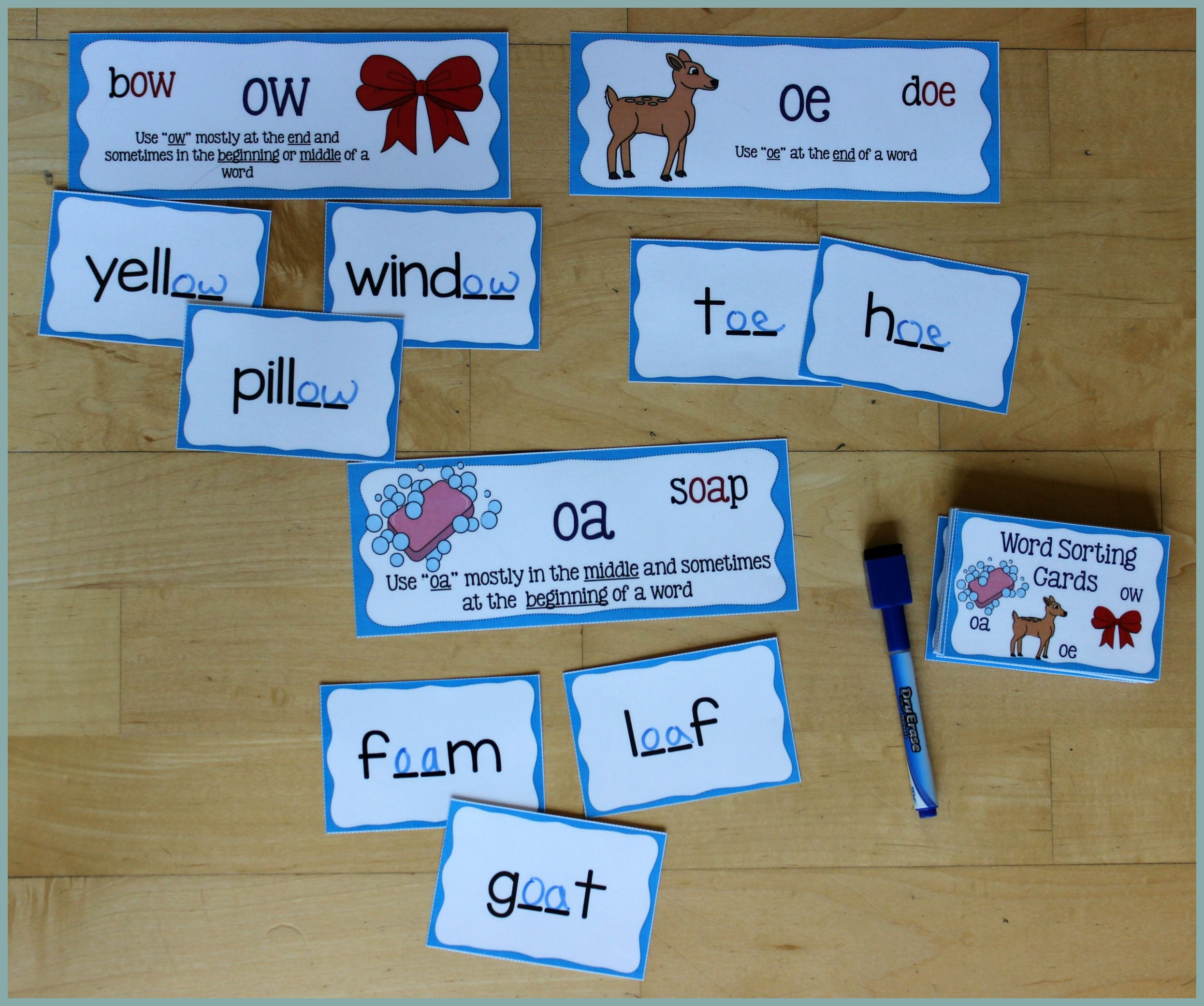 Activities for Teaching the oa/ow/oe Digraphs | School Lesson Plan ...