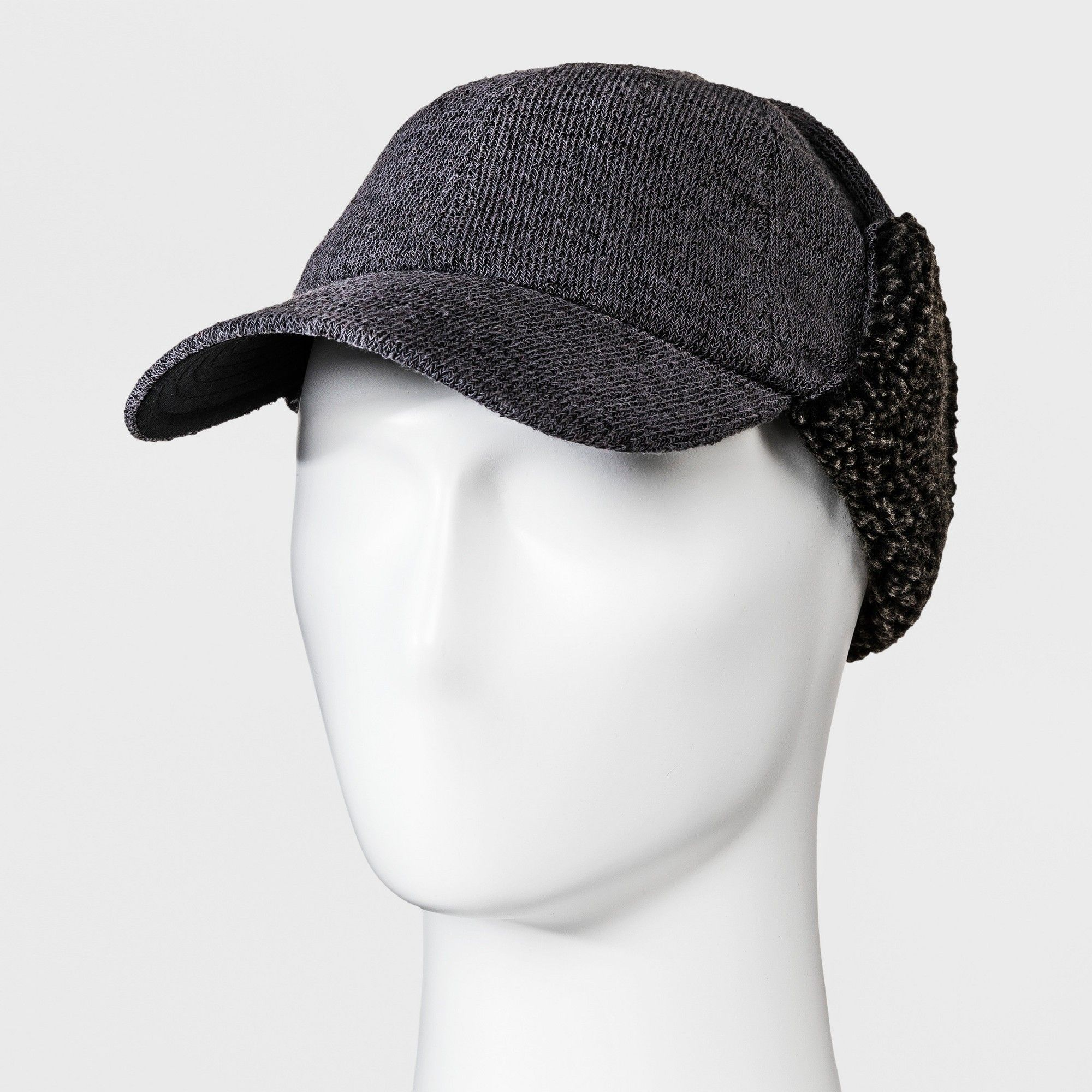 69152842dcd73 Men s Fleece Flap Baseball Hat - Goodfellow   Co Charcoal Heather L ...