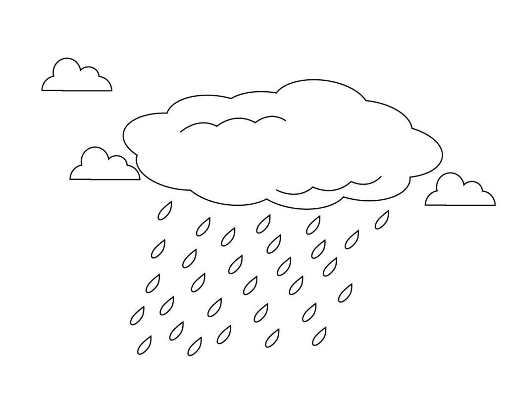 Rain Clouds Coloring Pages Coloring Pages For Kids Coloring Pages Free Halloween Coloring Pages