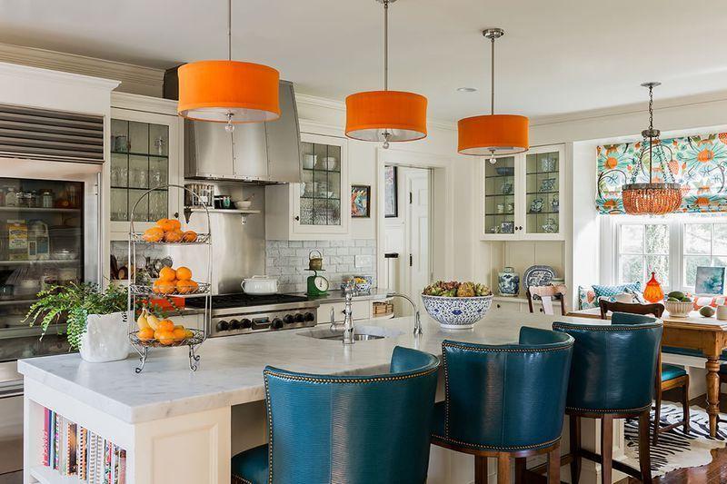 Orange Blue And White Kitchen Small Kitchen Decor Orange Kitchen Decor White Kitchen Decor