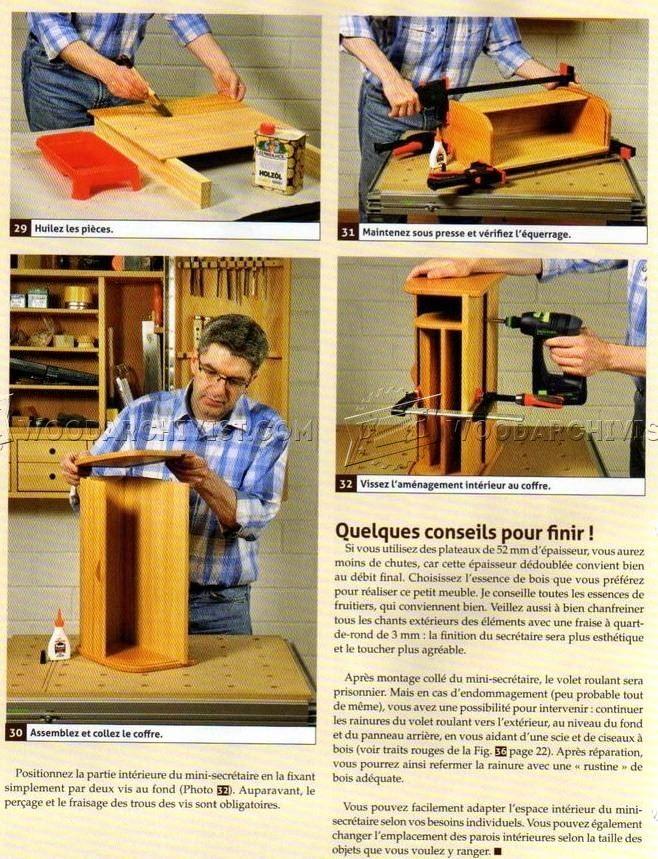 2703 Tambour Desk Organizer Plans - Woodworking Plans aux para - reparation de porte en bois