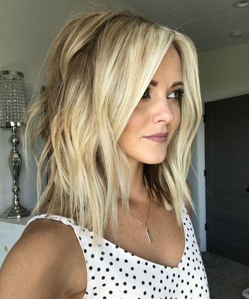 chic lob shaggy hairstyles 2018