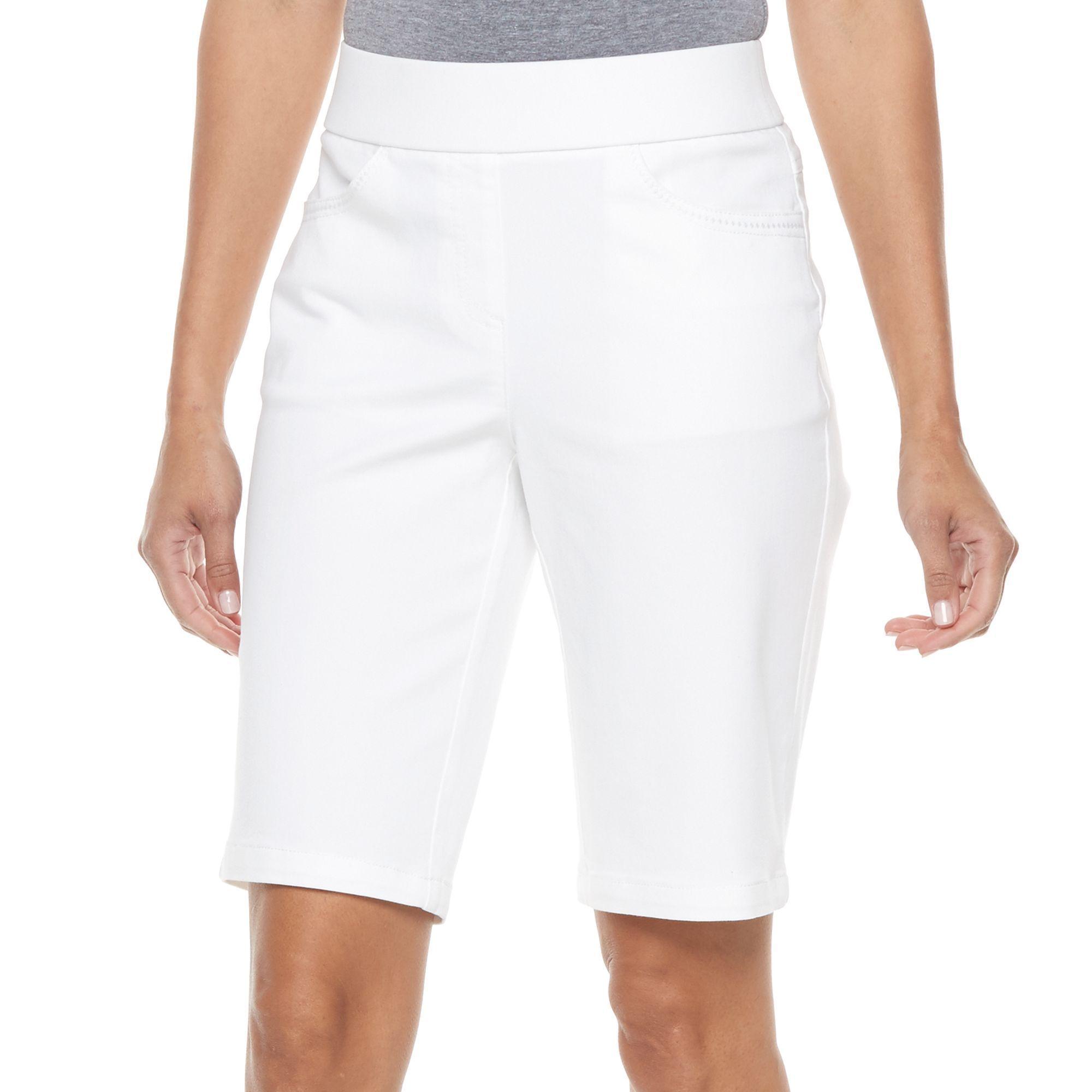 Petite Kate and Sam Stretch Bermuda Shorts, Women's, Size: Xl ...