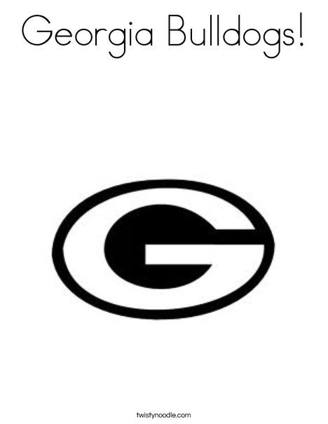Georgia Bulldogs Logo Coloring Pages Coloring Pages Georgia