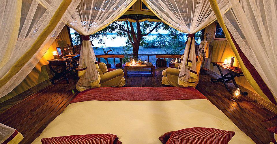 Chiawa Old Mondoro Zambia Luxury african safari, Tent