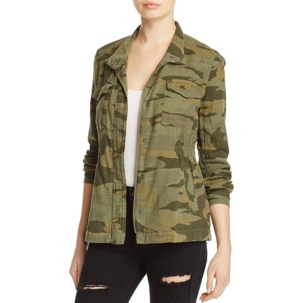 Splendid Camo Print Military Jacket ($140) ❤ liked on Polyvore featuring  outerwear, jackets