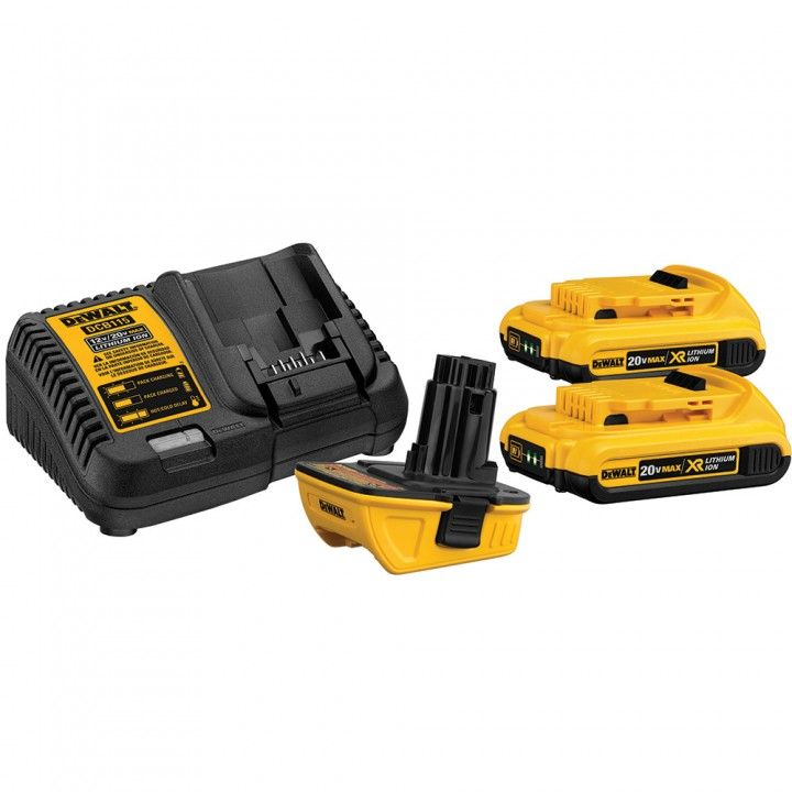 Dewalt Dca2203c 18v 20v Battery Adapter Kit Battery Adapter Dewalt Cordless Tools