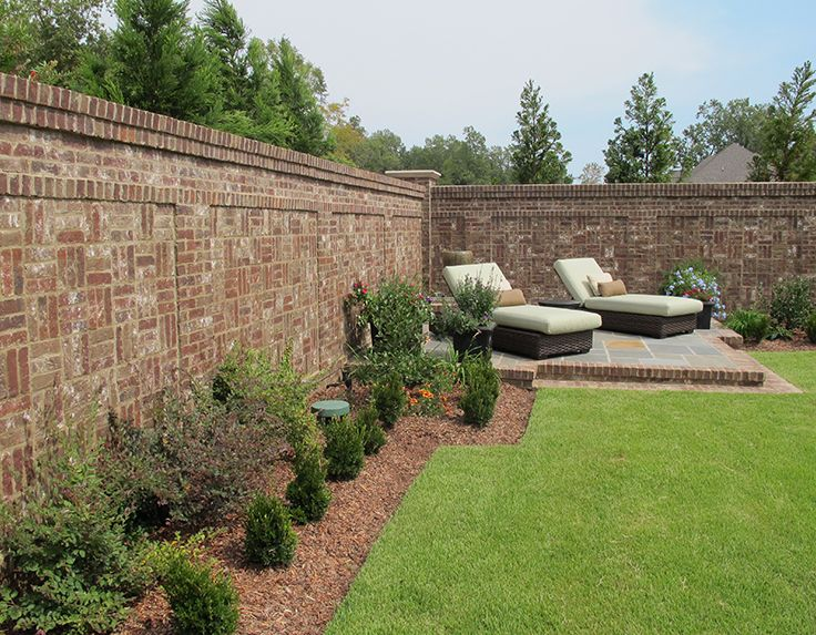 Make Your Yard A Sanctuary By Adding A Brick Wall Choose