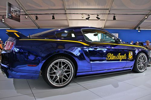 The Blue Angels Mustang Gt Is Painted In A Unique Chrome Paint Courtesy Of Creations N This Now Available On Any Production Vehicle