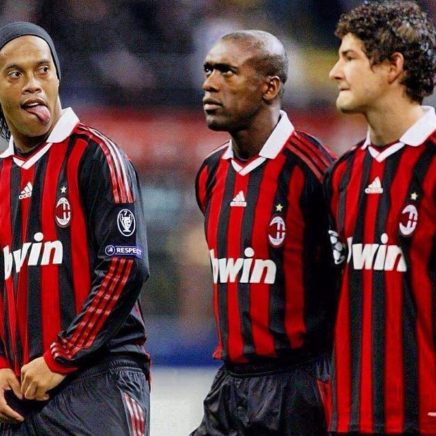 Pato Ronaldinho And Seedorf Ac Milan Ac Milan Milan Seedorf