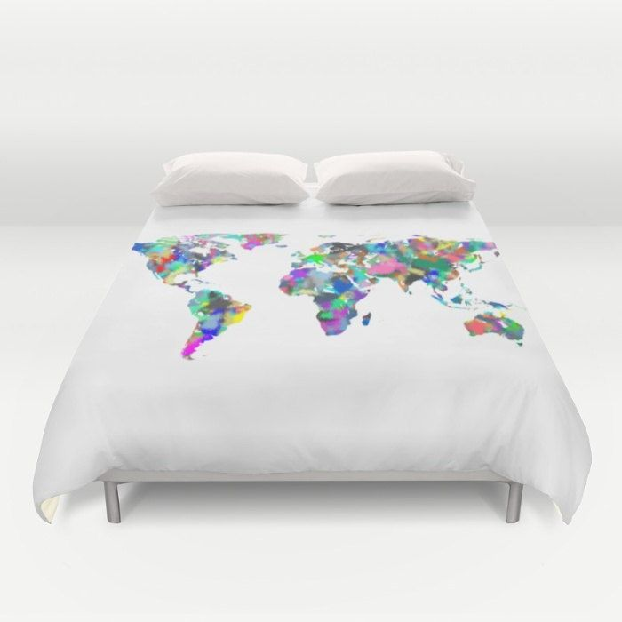 World map duvet cover full queen king duvet spray paint map globe world map duvet cover full queen king duvet spray paint map globe bed cover world duvet cover modern bedding world map comforter cover by gumiabroncs Choice Image