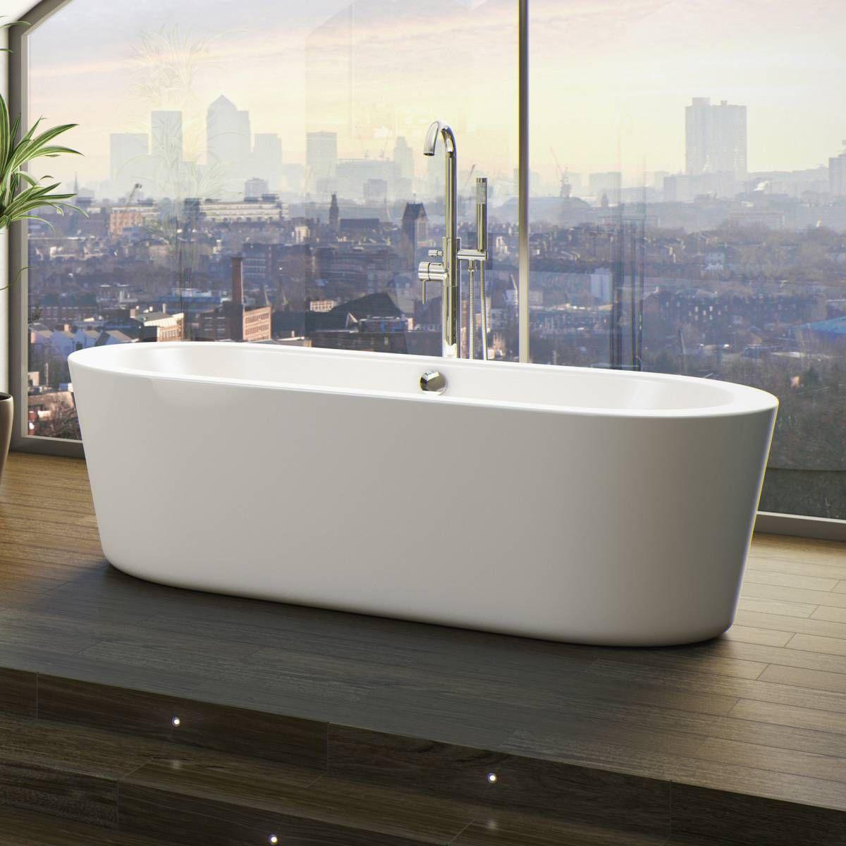 Plumbs bathroom suites - Arc Freestanding Bath Large Now 299 99 Less Than Half Price
