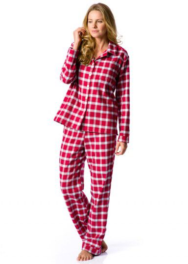 Brushed cotton pyjamas in our Red Devil fabric. UK made by PJ Pan ... 154785a66