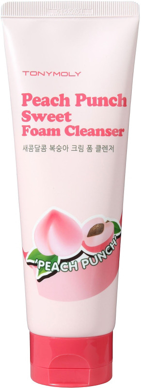Tony Moly's Peach Foam Cleanser is a rich cleanser with a
