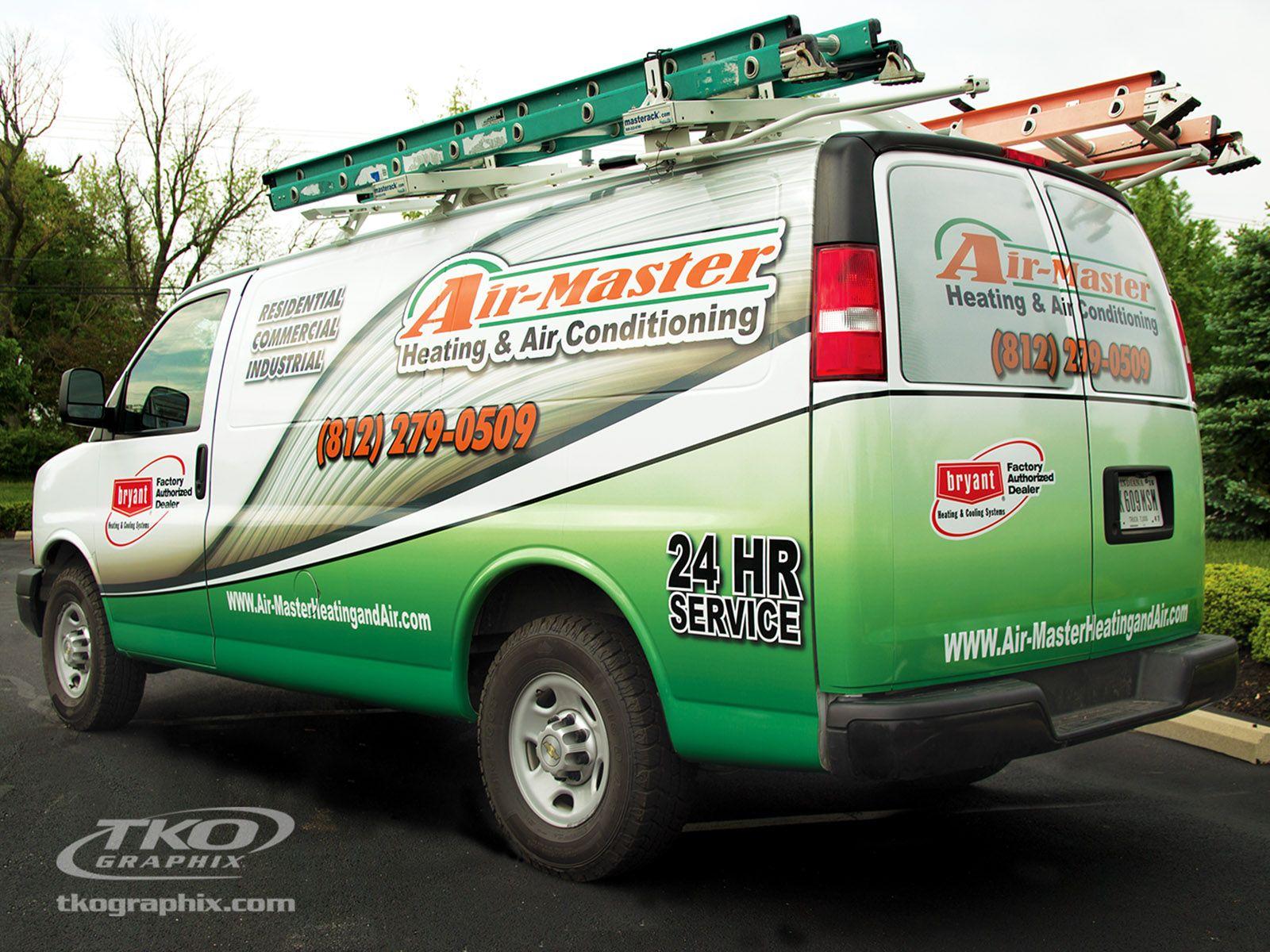 Photo Blog Airmaster Heating Cooling Van Wrap Van Vehicles