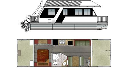 Small Houseboat small houseboats houseboat rentals and houseboating in texas texas outside guide Small Houseboats Houseboat Plans Tips For Drafting Your Dream Houseboat Life123