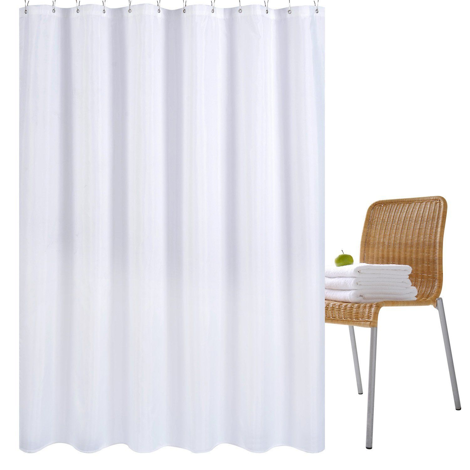 Wimaha Fabric Shower Curtain Mildew Resistant Water Repellent And