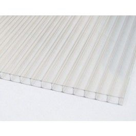 6mm Twin Wall Coverlite Polycarbonate Panel Clear 28 64 For 48x48 Polycarbonate Panels Wall Polycarbonate