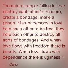 Mature love vs immature love