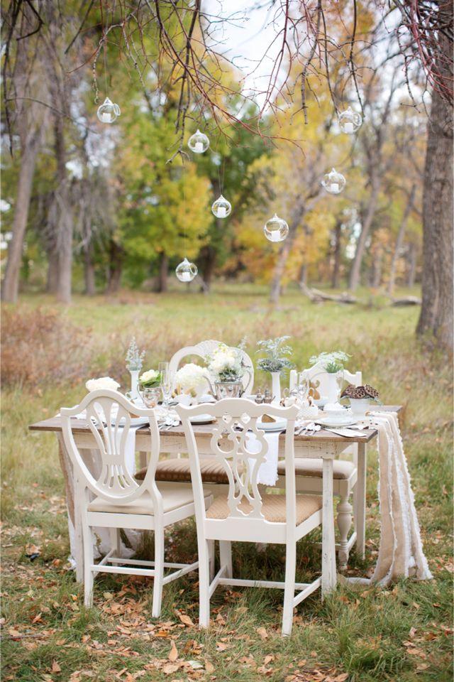 Autunno ricevimento di nozze tabella / Fotografia ShutterChic