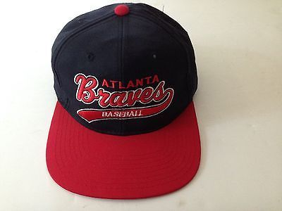 braves starter snap hat wool vintage baseball cap nice tomahawk lucky brand