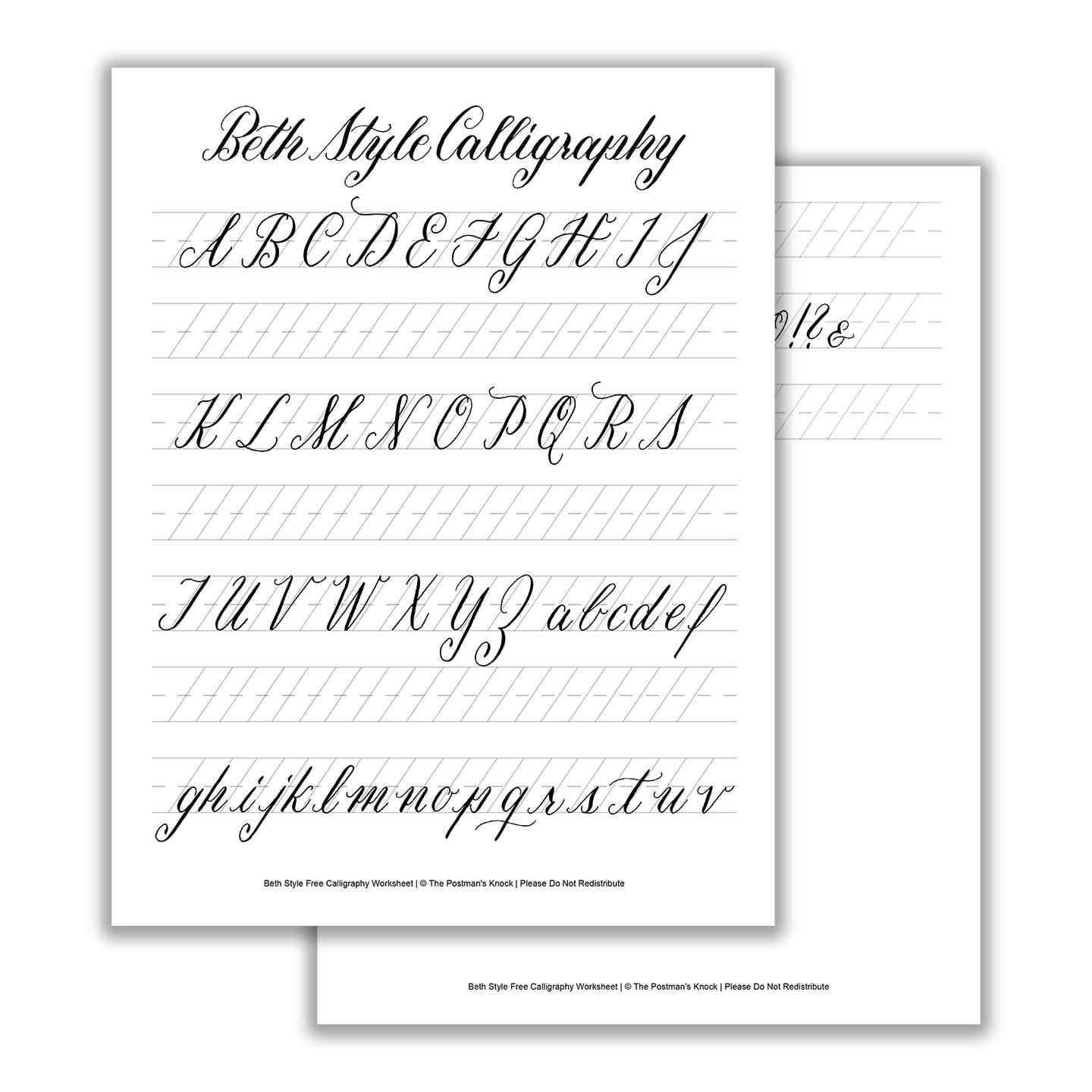 Fancy Calligraphy Alphabet Styles From A To Z Beautiful