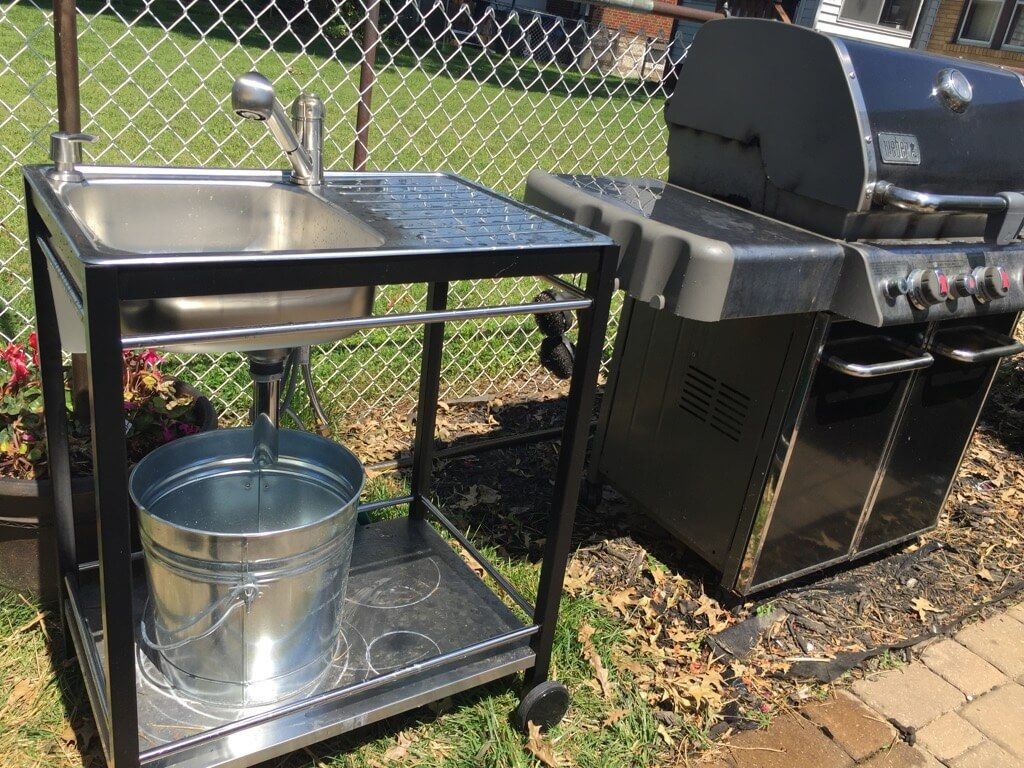 Outdoor Sink A Perfect Summer Project Ikea Hackers Outdoor Kitchen Sink Outdoor Sinks Outdoor Kitchen