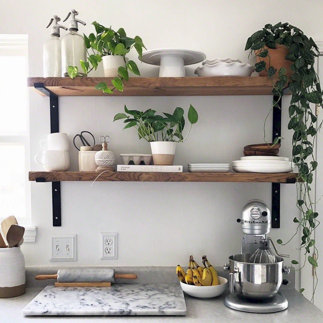 25 Fascinating Small Kitchen Wall Shelves Ideas That Look More
