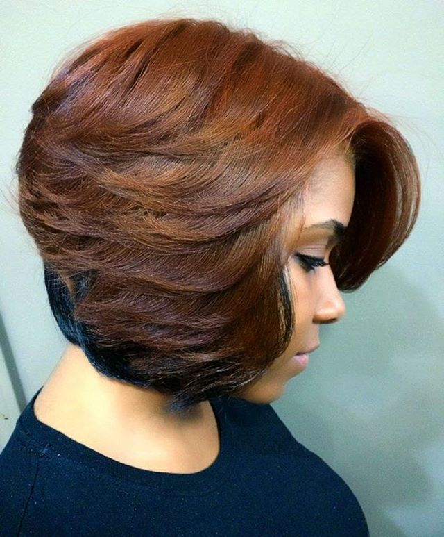 STYLIST FEATURE  Gorgeous #fallcolors on this #bob ✂️ styled by #DetroitStylist @TheLivingRoomHairLounge