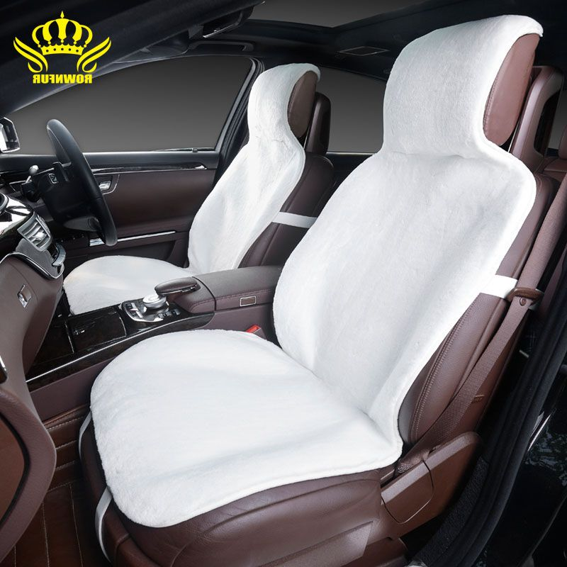 2015for 2 Front Car Seat Covers Faux Fur Cute Car Interior Accessories Cushion Cover Styling Winter New Plush Car Interior Accessories Car Seats Carseat Cover