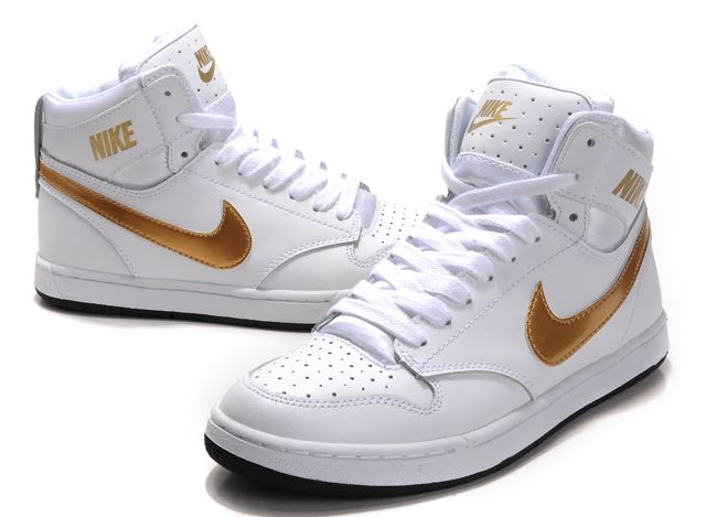 Discount Authentic Mens Nike Dunk High Shoes Golden/White/Navy
